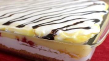 5 Layer Banana Split Cake