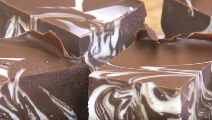 Peanut Butter Double Chocolate Fudge