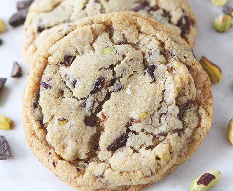 Chunky Chocolate Pistachio Sea Salt Cookies