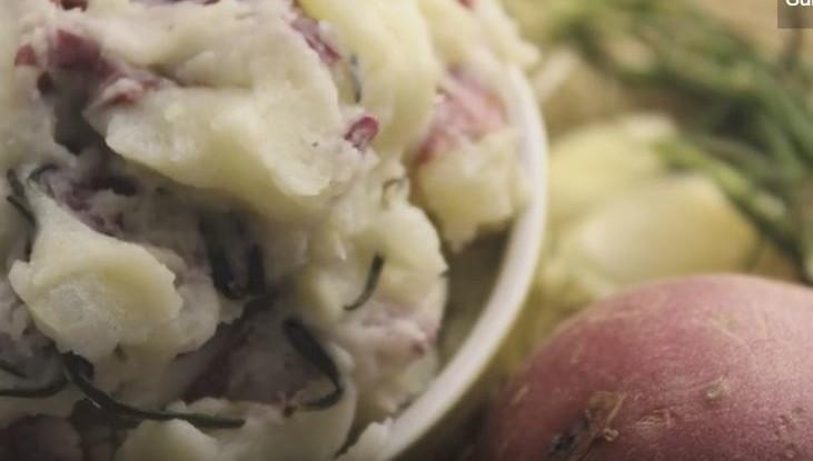 Garlic Rosemary Mashed Potatoes Recipe