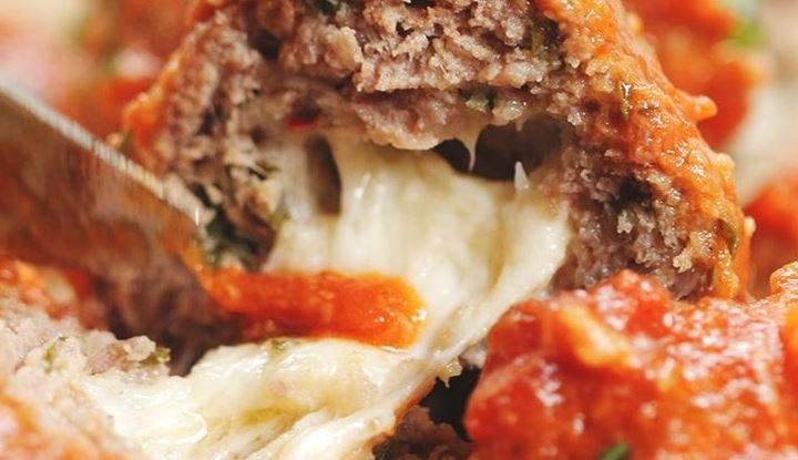 Stuffed Mozzarella Meatballs