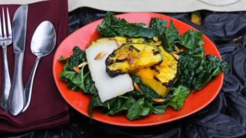 Grilled Kale Pumpkin Seed Salad Recipe