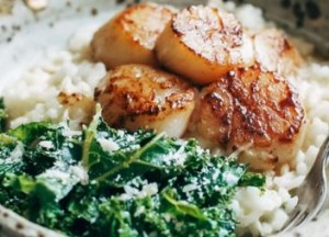 Brown Butter Scallops And Parmesan Risotto