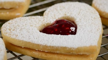 Raspberry White Chocolate Shortbread Cookies Recipe