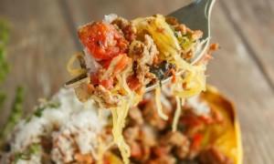 Ground Beef Stuffed Spaghetti Squash