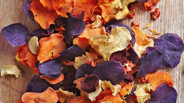 Healthy AND Delicious Baked Root Veggie Chips Recipe!